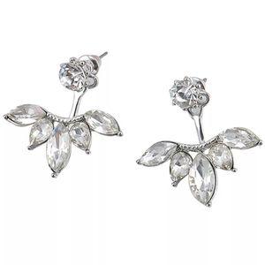 5 Point Crystal Back Drop Earrings